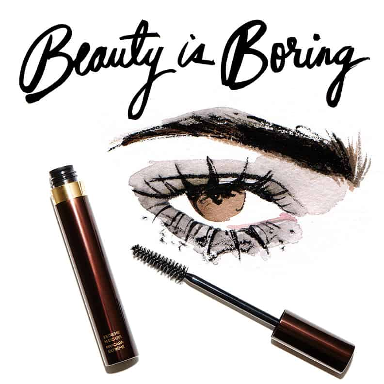 Regina Yazdi, Robin Black, Beauty is Boring, Illustrated Beauty, Tom Ford, Tom Ford Extreme Mascara Raven, Juli Herz, Juliana Herz